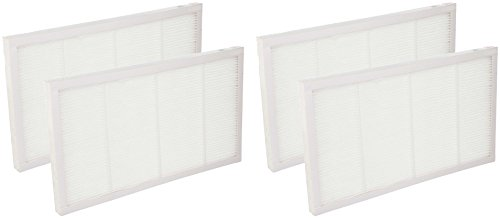Nispira True HEPA Filter Compatible with 3M Filtrete Ultra Quiet Air Cleaning Purifiers Model FAP02 FAP01-RMS and FAP02-RMS. Compared to Part FAPF02 FAPF024, 4 Packs