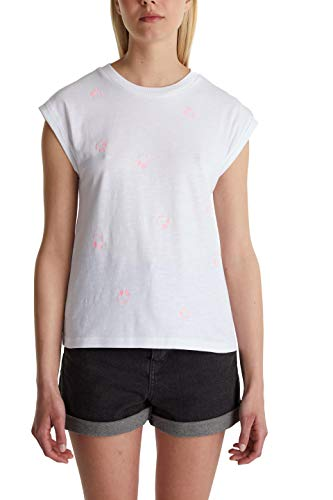 edc by Esprit 050CC1K323 Camiseta, 100/color, XL para Mujer