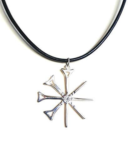 Hallmarked Sterling Silver Anu Symbol Pendant on 17' Real Leather Cord