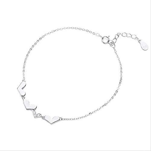 ZHIFUBA Co.,Ltd Collar, Collar, Temperamento de Moda, Cien Conjuntos, Pulsera de circón de Diamantes en Forma de Amor, Pulsera de joyería de Mano S de Moda para Mujer