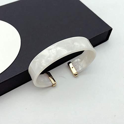 WDAIJY Damen Armband,Bangle Bracelets Frauen Schildpatt Acryl Armreif Mode Minimalismus Harz Manschette Armbänder Punk Schmuck