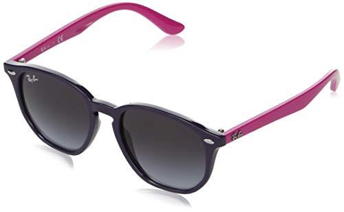 Ray-Ban unisex child Rj9070s Sunglasses, Violet/Grey Gradient Dark Grey, 46 mm US