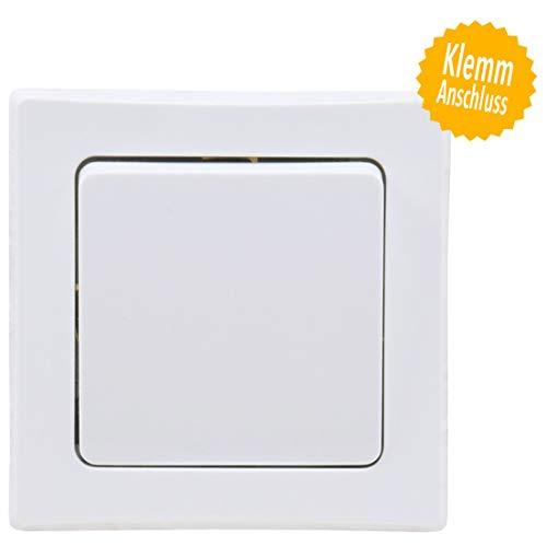 DELPHI Wechsel-Schalter Lichtschalter 230V Unterputz Klemmanschluss Weiß