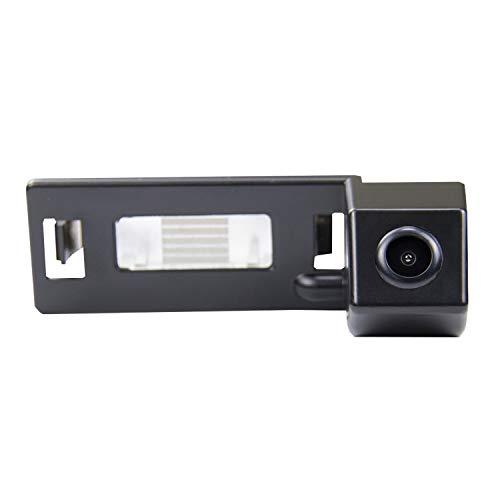 Farb Rückfahrkamera integriert in die Nummernschildbeleuchtung LED Kennzeichenbeleuchtung Kamera mit Distanzlinien für Audi A1 A4 B8 A5 5D S5 TT Roadster Q5 RS Coupe Cabriolet/Skoda Superb Skoda Yeti