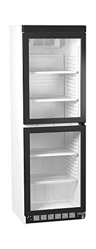 Flaschenkühlschrank mit 2 Glastüren Getränkekühlschrank Barkühlschrank Gewerbe Gastronomie