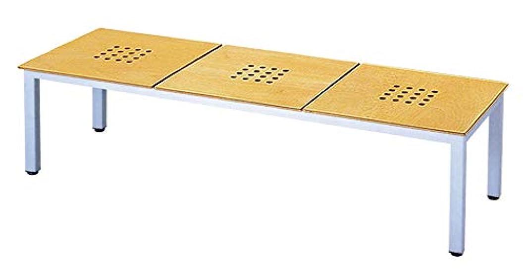 緊張する銀同一性ミトノ 日本製 ロビーベンチ 椅子 ML-20-3 塗装脚 成型合板 3人掛け MT-1694(シルバー)
