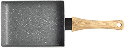 IUYJVR Sartén Tortilla Sartén Antiadherente Negra Sartén para Huevos Sartén para panqueques Olla de Cocina Uso Exclusivo para Cocina de Gas