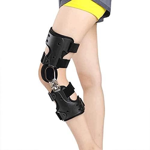 WXking Rodillera con bisagras, estabilizador de Pierna Ajustable, estabilizador de Soporte ortopédico médico después de la cirugía