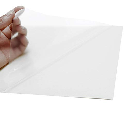 2AINTIMO Fogli Adesivi Film PVC Vinile A4 Carta Trasparente per Stampante Inkjet (Trasparente, 10)