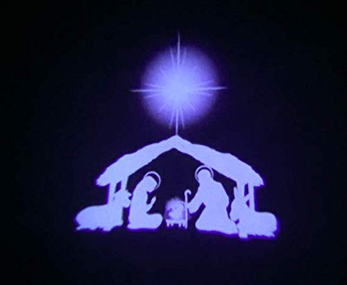 Beffy Arts Nativity Light Christian Themed Water-Resistant Indoor Outdoor Projector for Christmas Outdoor Lighting