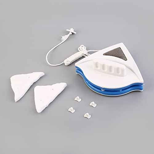 PPuujia Limpiador magnético de cristal de doble cara, herramienta de limpieza de superficies de 3-8 mm/15-24 mm (color: azul)