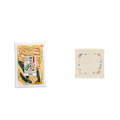 [2点セット] 青唐辛子 細竹たまり(330g)・(飛騨限定)さるぼぼ コラーゲンぷちたおる洗顔用【ベージュ】(綿100%)