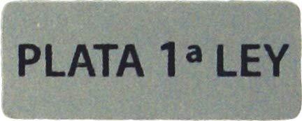 ETIQUETA ADHESIVA JOYERÍA PLATA 1ª LEY(20X8MM)500U