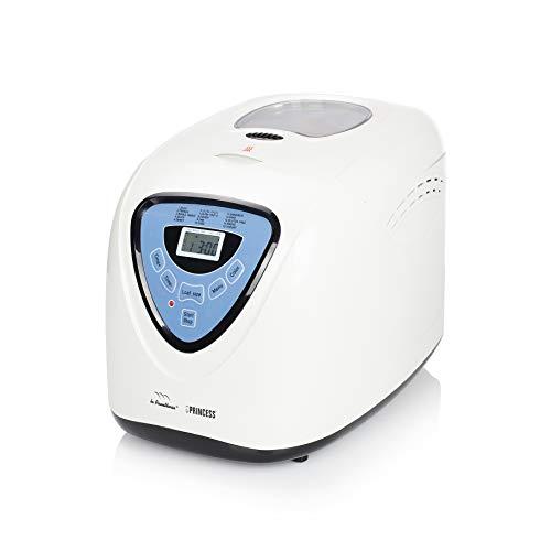 Princess 152006 Panificadora completamente automática, 15 programas digitales, programa especial sin gluten, temporizador digital, capacidad de 900 gramos, Blanco