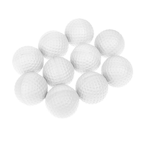 Sharplace 10er Set Soft Golfball Schaumstoff Golfübungsbälle Golfbälle Training Balls - Weiß