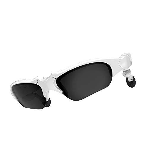 TAORANG V5.0 Bluetooth Glass Hörlurar Trådlösa Hörlurar Smart Glass Surround Stereo Röstkontroll Buller Annullerade Solglasögon För Män Kvinnor Svart/Vita