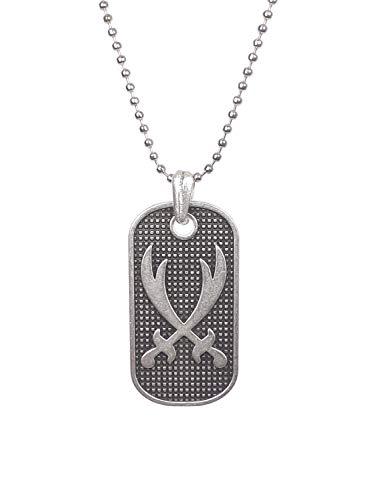 Gök-Türk Unisex necklace with pendant '2 swords Zülfikar Aleviten Hz Ali', Dhu l-faqār, Zulfiqar, Zulfikar silver colour