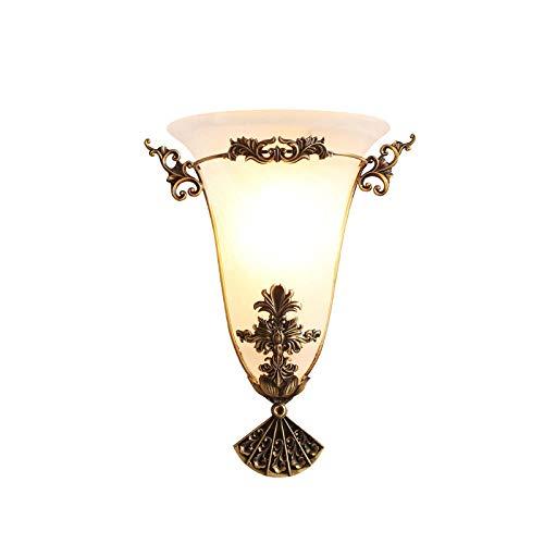 MJSM Light bedlamp, lamp op zonne-energie, buiten, koper, Europese stijl, wand, woonkamer, slaapkamer, nachtkastje