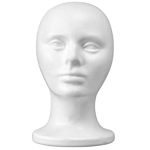 10.5'' Inch Styrofoam Foam Wig Head Mannequins mannequin head, Style, Model & Display Women's Wigs, Hats & Hairpieces Stand Manikin Display Head - by Adolfo Designs
