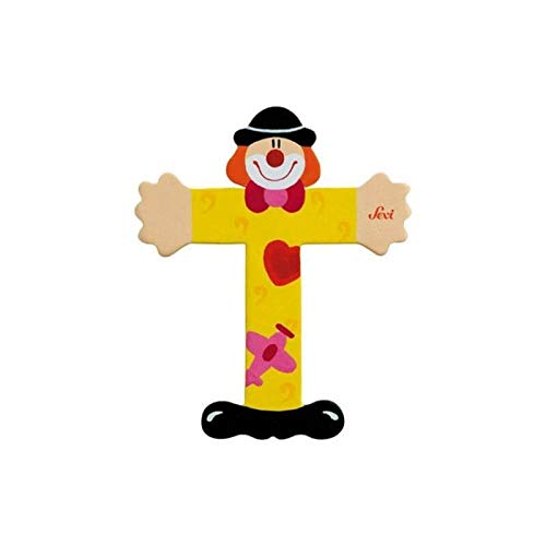 Lettre clown en bois T - Petit Jour