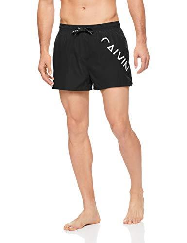 Calvin Klein Swim Shorts-Core Diagonal Bañador para Hombre, Black, Large