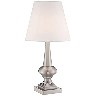 Brushed Steel Finish 19  High Touch On-Off Table Lamp