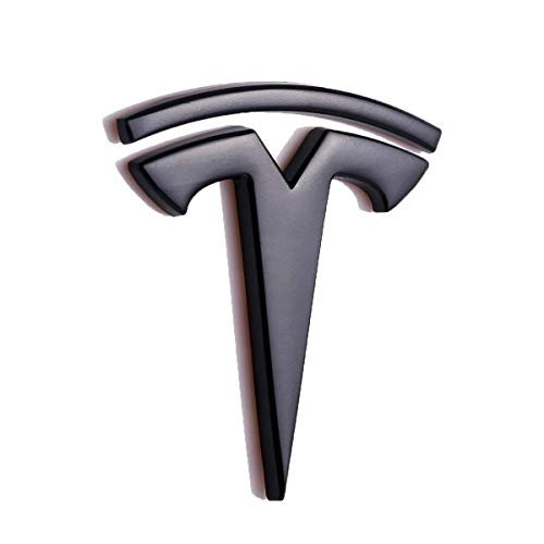 3D metal car side fender back seat logo sticker badge sticker for Tesla sports car model S model X model 3 TESLASUV decorative accessories (black)