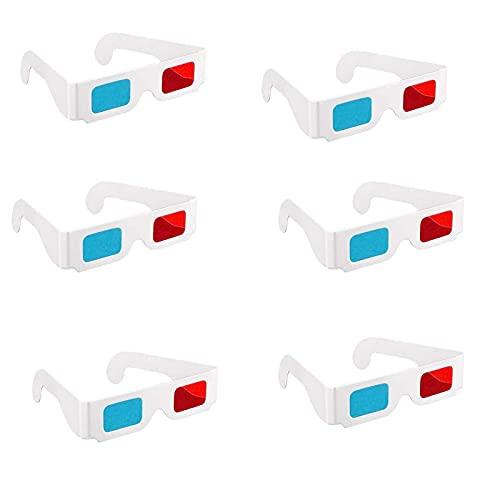 3D Rot Blau Filme Brille Rot Blau Stereo Brille 3D Brille Brille Papier 3D Rot Blau Faltbare Brille Rot Blau Pappbrille für Filme Tv Zeitschriften Filmdekoration Und Mehr 50 Paar