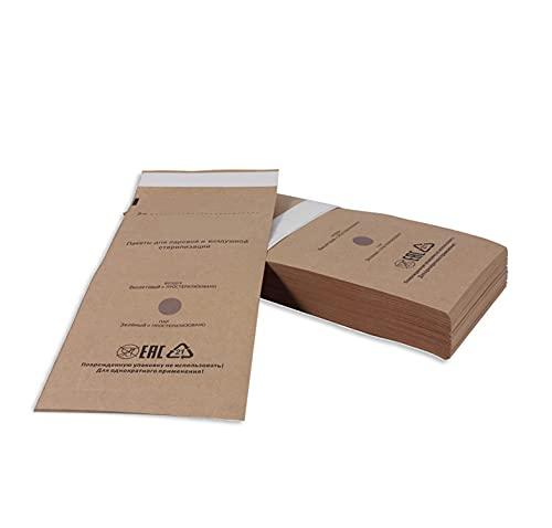 Bolsa de esterilización desechable para uñas, accesorios desechables para esterilizadores de uñas, para desinfectantes, cosméticos, herramientas de uñas, 100 unidades, 75 x 150 mm