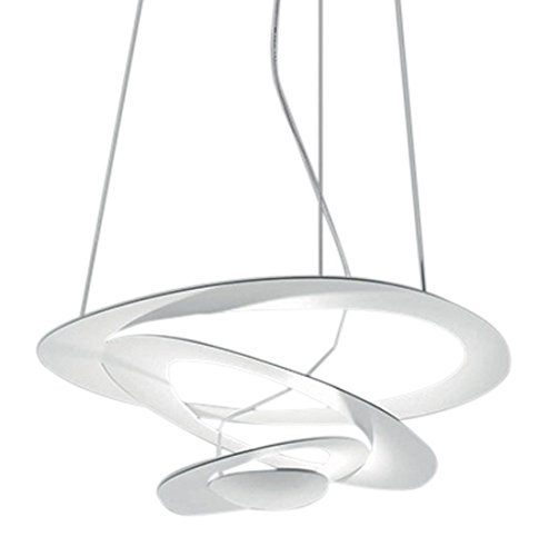 Artemide Pirce Mini R7s aluminium, blanc à lampe à suspension