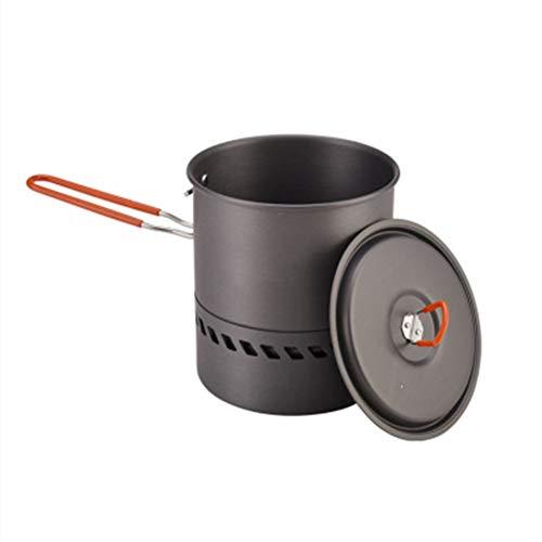 Camping Pot Set Opvouwbare Koken Aluminium Reispan Gebruiksvoorwerpen Draagbare Schuurweerstand Outdoor Kookgerei Eenvoudig Reinig Zelf Rijden Snelle Verwarming Picknick Winddicht free size als afbeelding tonen