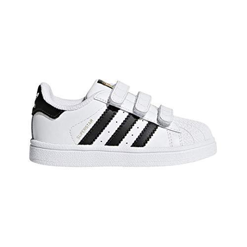 adidas Originals Baby Superstar CF I Running Shoe White/Core Black/White, 7 M US Toddler