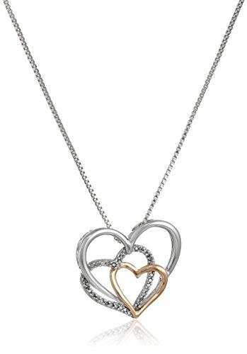 Sterling Silver Black Diamond Zodiac Pendant Necklace 1//10cttw, I3 Clarity