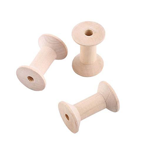 cigemay Leere Drahtspulen, Holzspulen, Seilkettenspule 10-teilige Leere Holzspulen, für Schmuck für Dekorationen