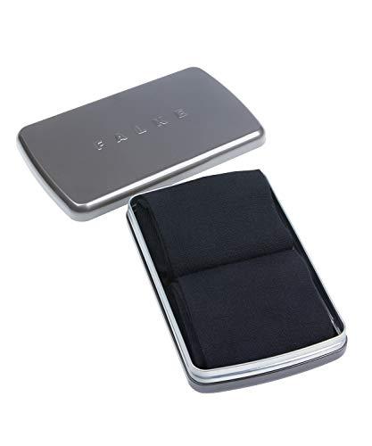 FALKE Herren Socken Airport 2-Pack Gift Box - Merinowoll-/Baumwollmischung, 2 Paar, Schwarz (Black 3000), Größe: 45-46