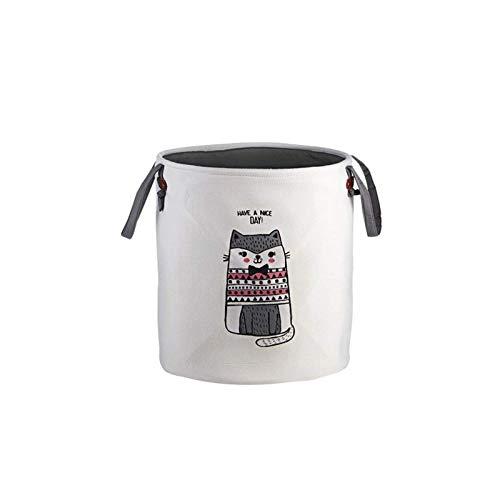 Cesta de lavandería con patrón de cuerda de algodón tejida para la colada, bolsa de almacenamiento para juguetes de bebé, cesta para la colada (tamaño: 36,5 x 40 cm; color: #03)