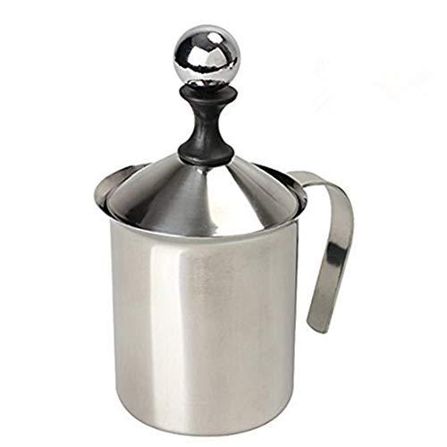 Milk Frother, HomeGoal Stainless Steel Manual Milk Foamer, Handheld...