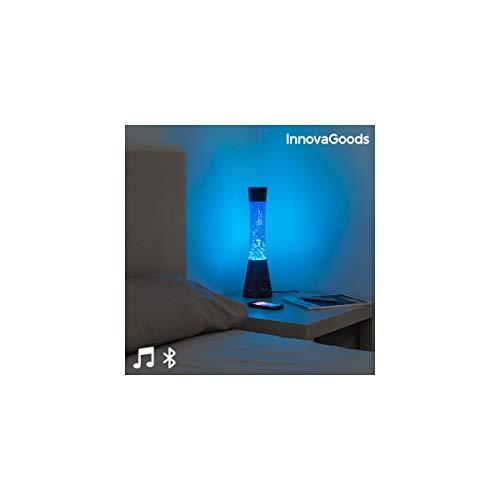 InnovaGoods Lámpara de Lava con Altavoz Bluetooth y Micrófono 30W, Negro y azul