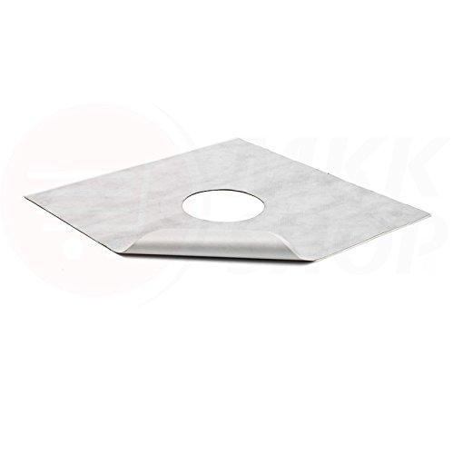 MKK - 20147-003 - Dichtungsfolie Dichtungsband Hydrofolie Duschablauf Bodenablauf Abdichtung selbstklebend 370 x 370 mm Ø 105 mm