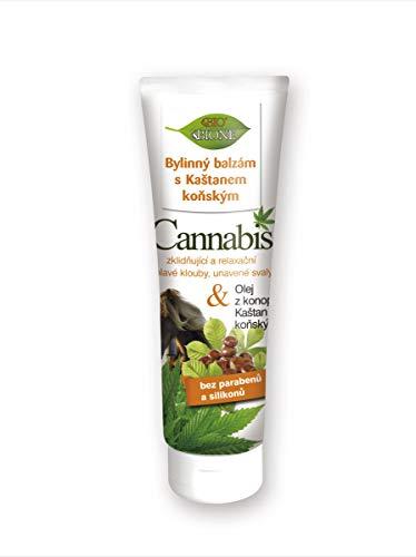 Bione Bio Massage-Kräuterbalsam mit Cannabis und Rosskastanien-Extrakte ohne Mineralöl, Silikone, Parabene - 300 ml !