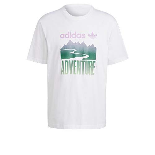 adidas GN2358 ADV Mount Tee T-Shirt Uomo White M
