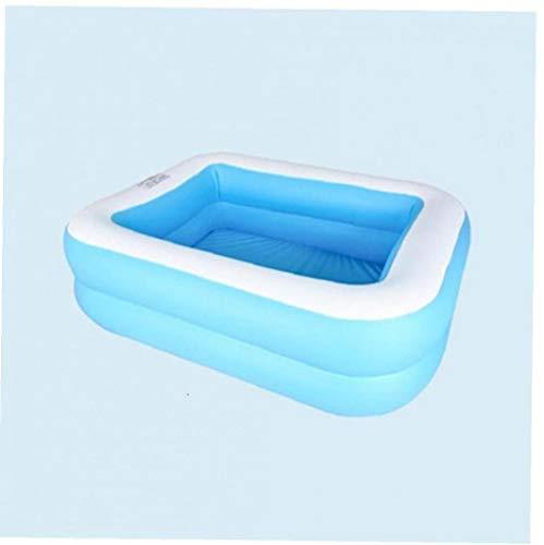 Piscina inflable para adultos de los niños al aire libre del patio trasero del verano, 110 * 88 * 33 cm, azul y blanco