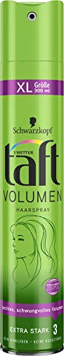 3 Wetter Taft - Laca para el pelo (volumen extrafuerte, 300 millilitros)