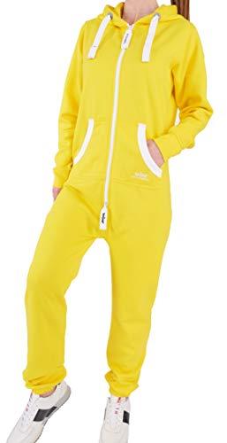 ED3 Finchgirl Damen Jumpsuit Jogging Anzug Trainingsanzug Overall Gelb XS