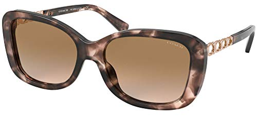 Coach Gafas de Sol HC 8286 PINK HAVANA/LIGHT BROWN SHADED 57/17/140 mujer