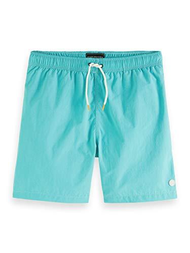 Scotch & Soda Halblange Badeshorts aus recyceltem Nylon Pantalones Cortos, Verde, M para Hombre