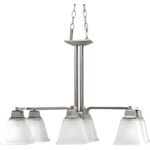Progress Lighting P4003-09 6-Light North Park Chandelier, Brushed Nickel