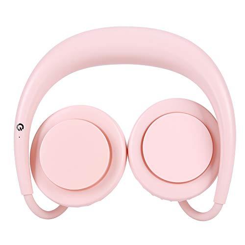 Socobeta Ventilador portátil recargable manos libres USB recargable ventilador manos libres ventilador portátil para el cuello para viajar para deportes (rosa, tipo torre inclinada Pisa
