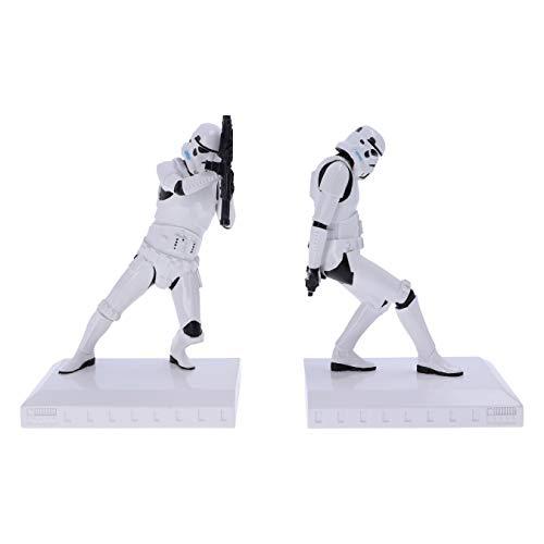 Nemesis Now Officially Licensed Bookend Figurines Offiziell lizenzierte The Original Stormtrooper-Buchstützen-Figuren, weiß, 18.5cm