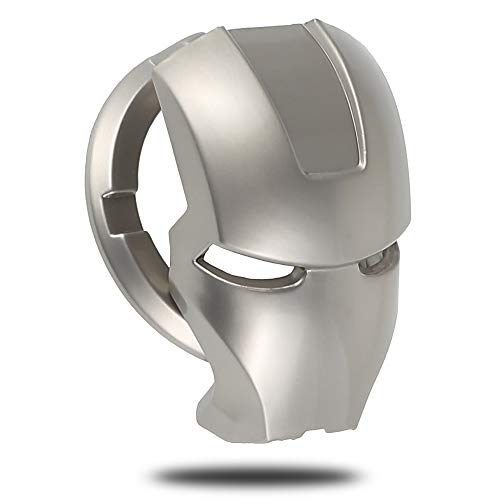 Start Stop Engine Copertura Interruttore per Interruttore di Sicurezza per Chiave di Accensione Decorativo in Metallo Iron Man (Argento)